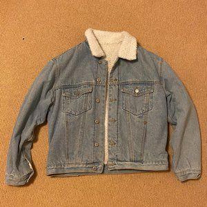 Brandy Melville Denim Fur Jacket